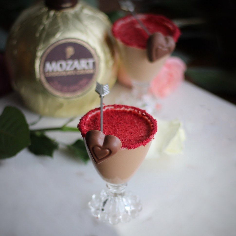 Mozart Chocolate Liqueur and SpiritedLA Valentine's Day Cocktail recipe
