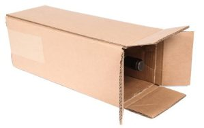 Magnum wine bottle shipping box with protective in...
