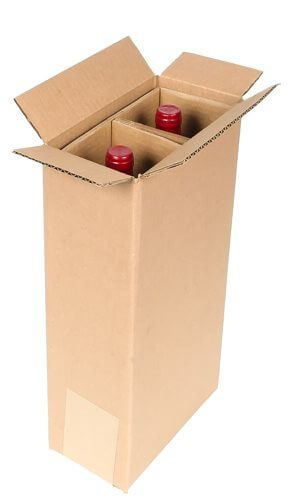 two bottle wine shipping box