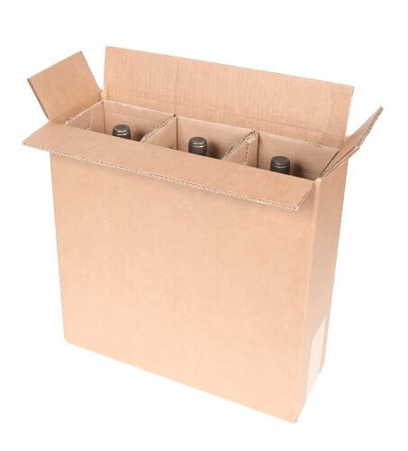 magnum shipping box for three bottles