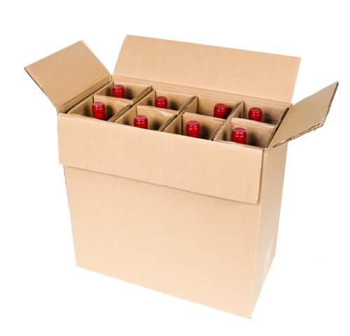 eight bottle wine shipping box