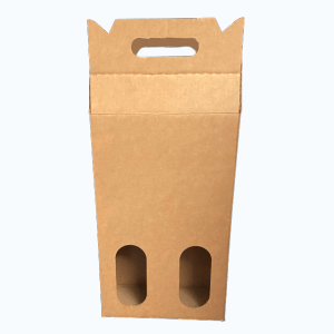 Two Bottle Magnum Brown Wine Tote