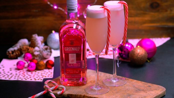 Greenall's Gin Candy Cane Gin Sour - Winter Cocktails 2020 Holiday