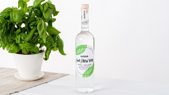 Our/New York Vodka Basil With Basil Plant
