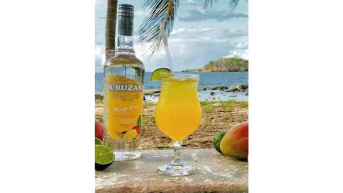 Cruzan Rum Mango Rum Margarita - National Rum Day cocktail
