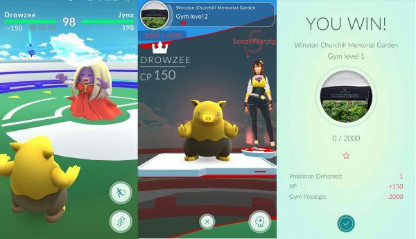 team pokemon go battle