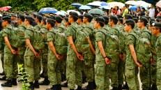 OCS cadets observing the ceremony