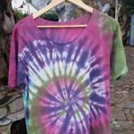 Tie dye cotton t shirt