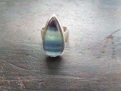 Purple fluorite ring