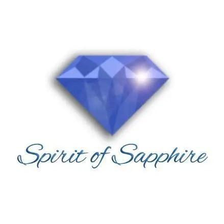 Spirit of Sapphire logo sparkling gemstone