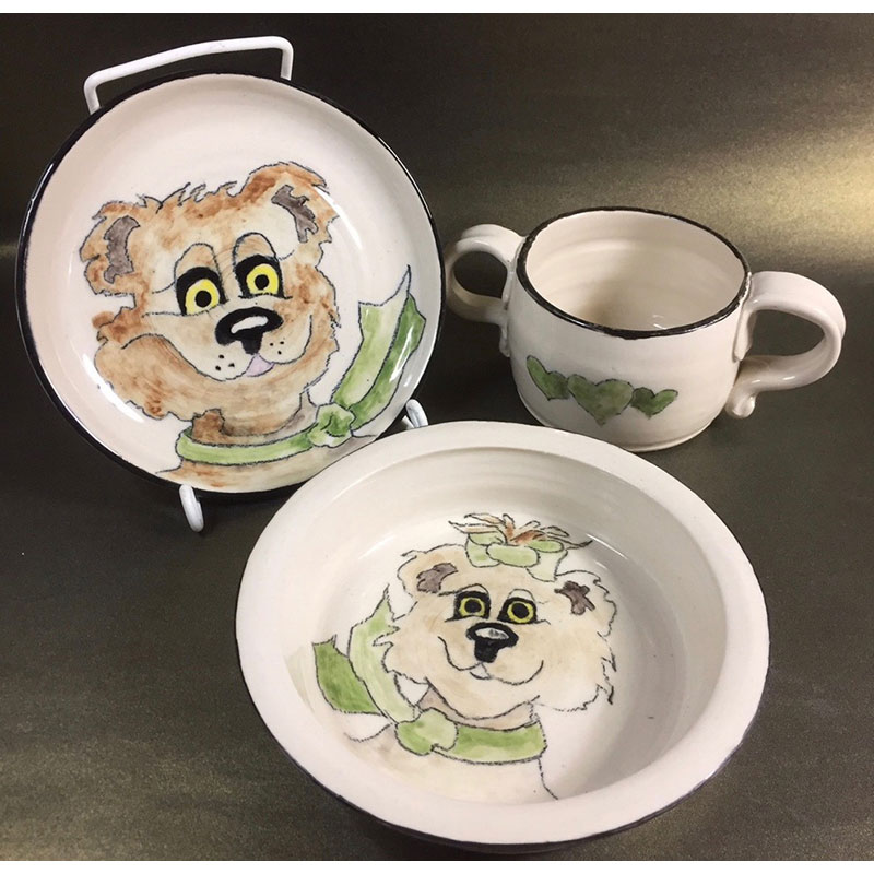 Bear-y-kins baby dishes by Sharon Ramsay Curtis