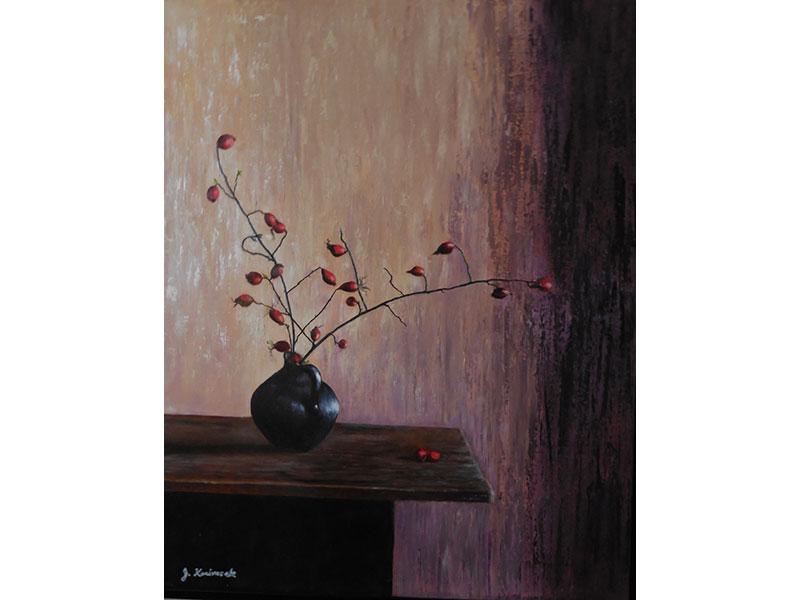 """Rosehip Boquet 16""""x20"""" by Josie Korimsek"""