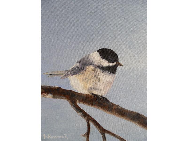 """Chickadee 8""""x10"""" by Josie Korimsek"""