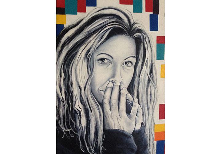 """Secrets by Dawn Miller -  acrylic on canvas, 18"""" x 24"""""""