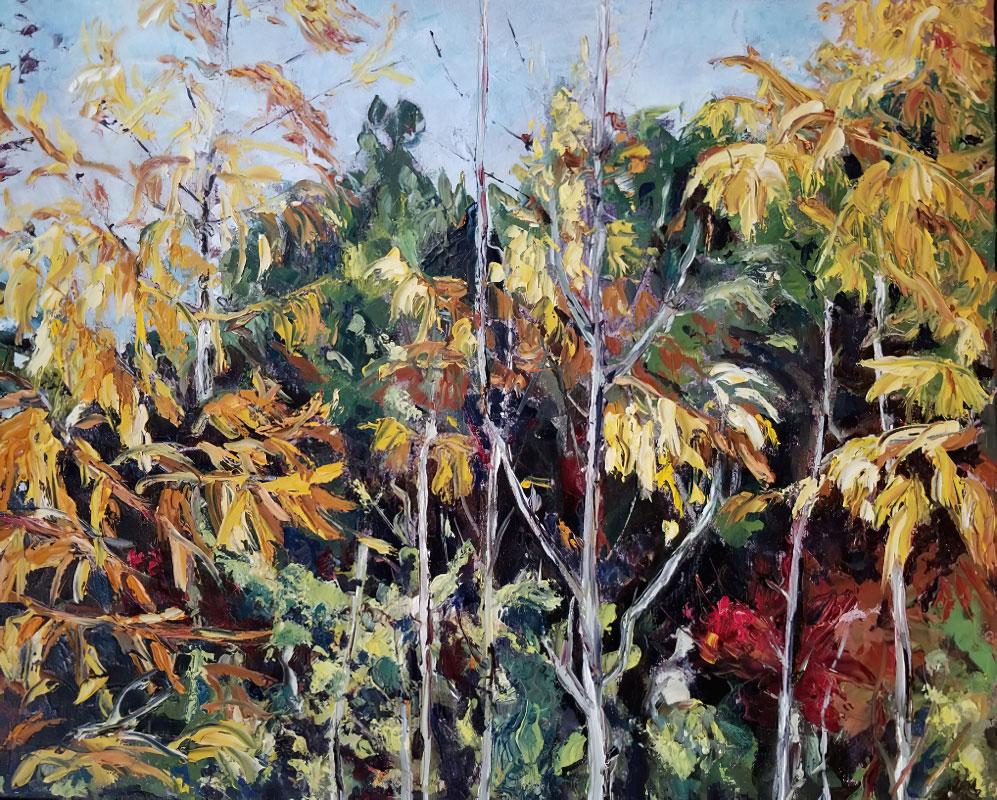 Golden Tamarack by Judy Hopkins