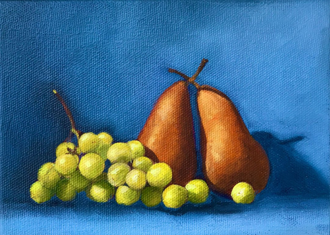 Still Life with pears by Susan Statham