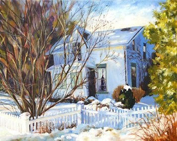 Stucco House in Colborne by Paivi Marshall