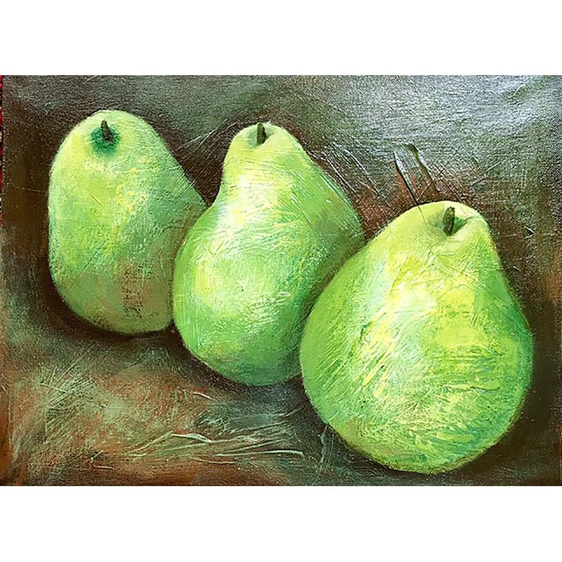 Three Pears by Vera Litynsky