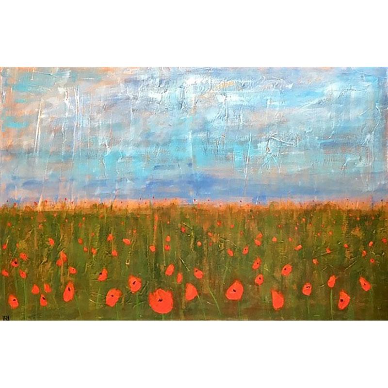 Poppy Field by Vera Litynsky