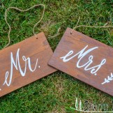 rustic Wedding Signs in Tuscany