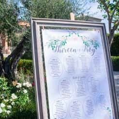 Tuscan Wedding Frame Seating Plan Spirito Toscano NL 6