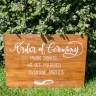 Tuscan Wedding Welcome Sign Handwritten Spirito Toscano NL 1