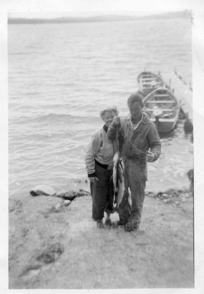 Lona and Chuck, circa 1954, Baby Lake.