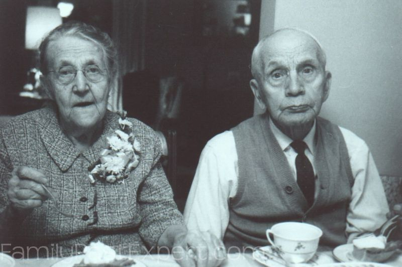 Fred and Alice Aschbrenner, 60th Wedding Anniversary, 1962.
