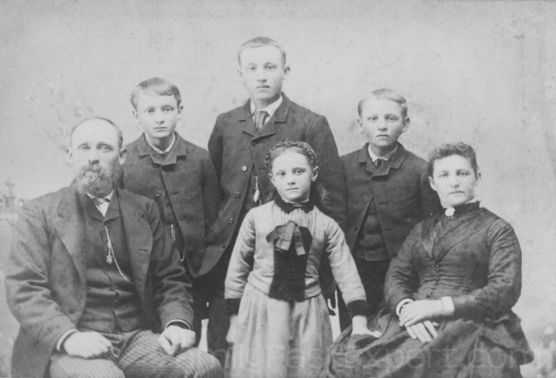 Hugh and Helen Fawcett Family, 1888.