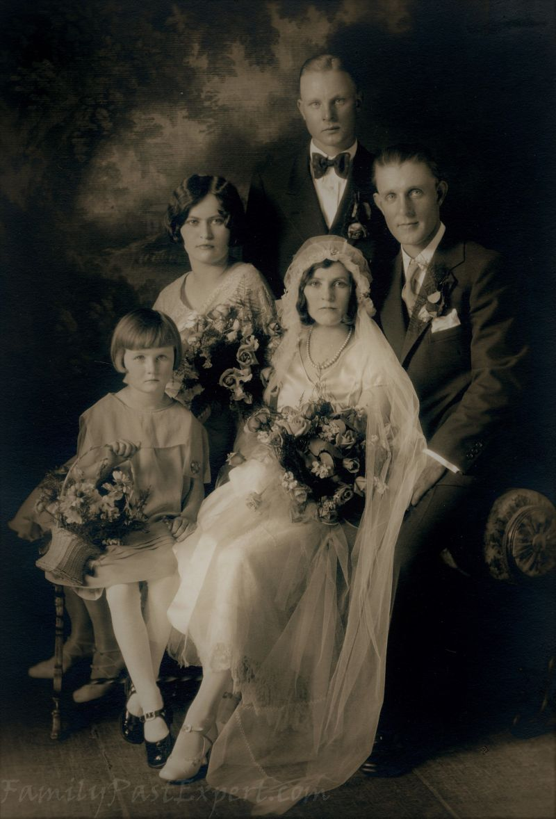 Bennett and Margaret Christianson wedding, 21 May 1930.