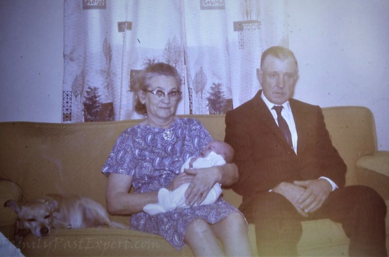 Margaret and Bennett with grandson