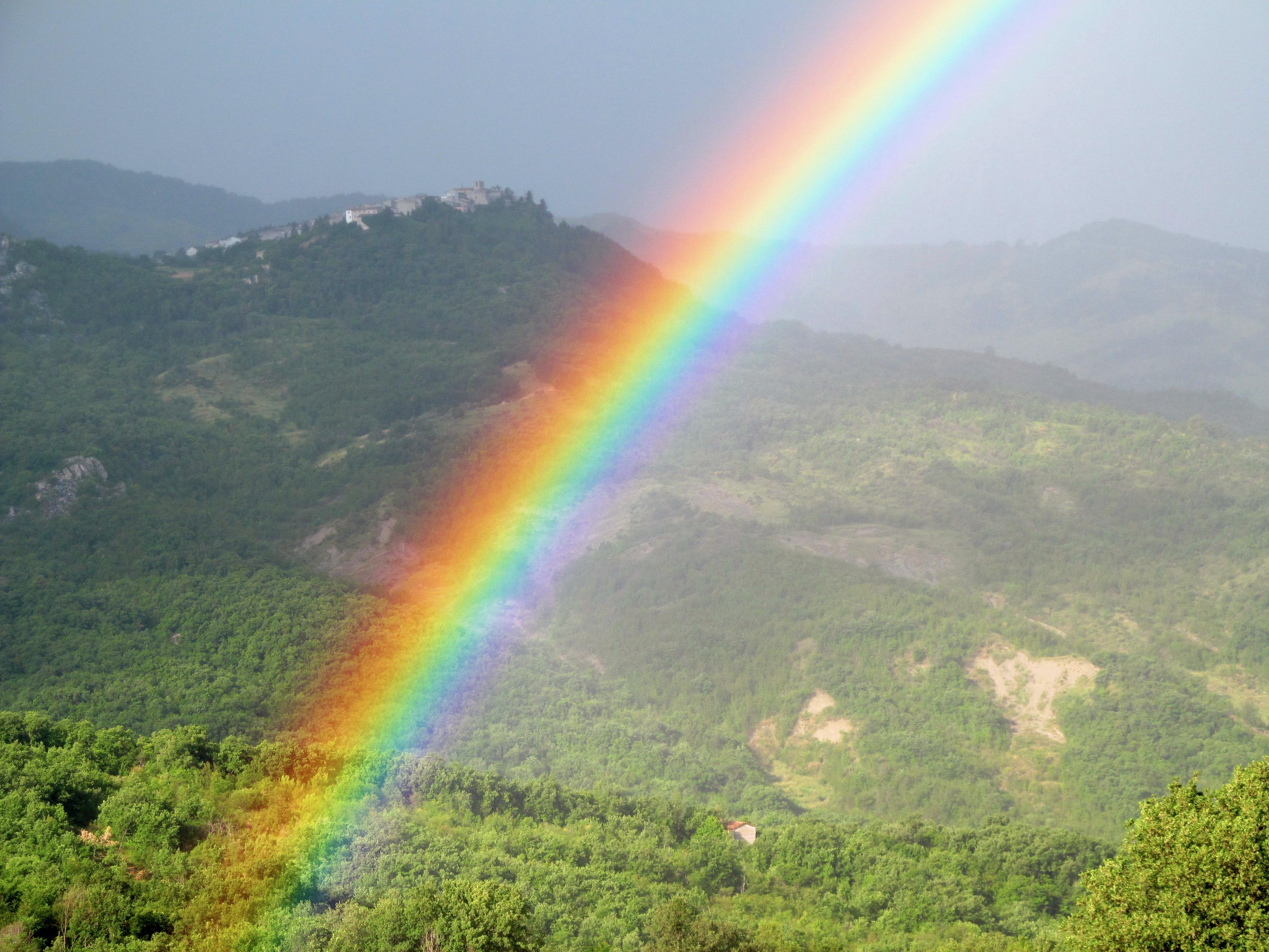 Valley under the rainbow