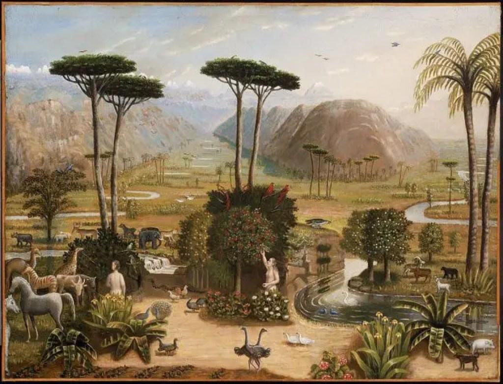 エデンの園(エラストゥス・ソールズベリー・フィールド画)