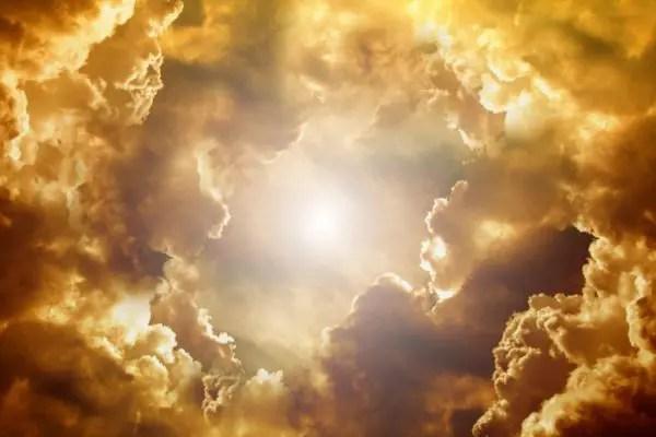 空 雲 嵐 太陽 光 夕方