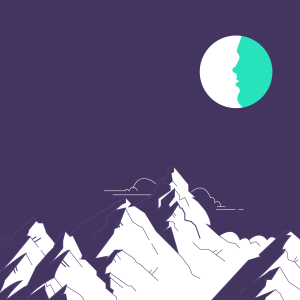 spiritual graphic design, graphisme spirituel, spiritual graphic design, digital artwork, illustration, vector art, lunar eclipse, eclipse de lune, lune, full moon, july 2018, montagnes, mountains, nightlightings, lunar eclipse, eclipse lunaire, eclipse