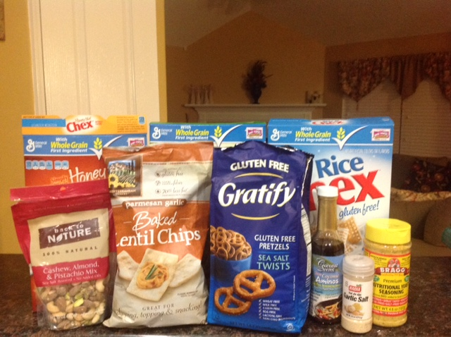Ingredients for Gluten-free Chex Party Mix