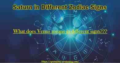 saturn in different zodiac signs