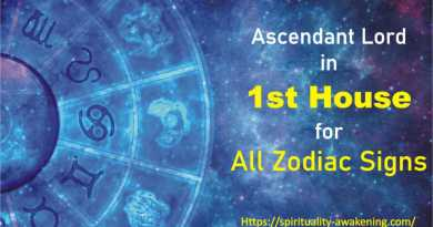 Ascendant Lord in 1st House -- first house lord -- lagna lord