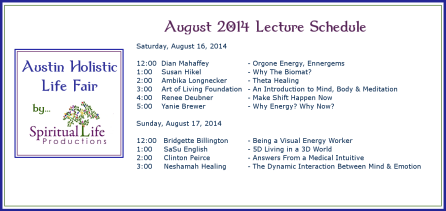 2014 August Holistic Fair Lecture Schedule2