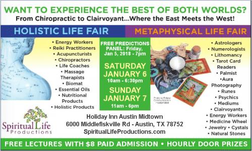 Austin Metaphysical and Holistic Life Expo - January 2018