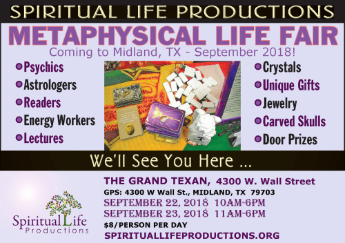 2018 - September - Metaphysical Life Fair - Midland, Texas