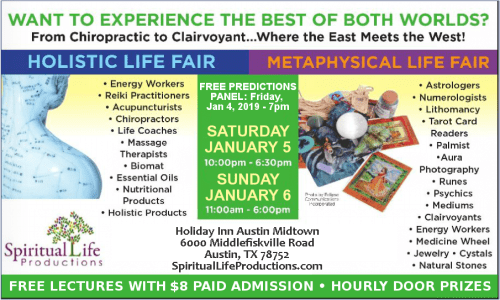 Austin Metaphysical and Holistic Life Expo - January 2019