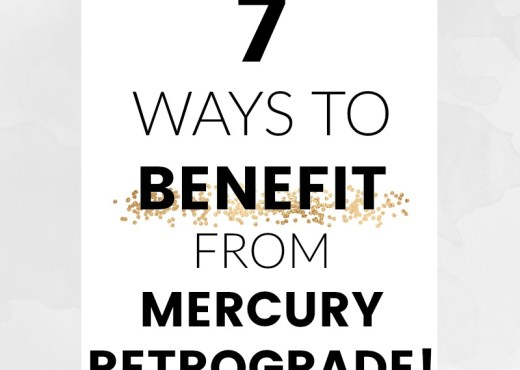 Mercury retrograde has a bad reputation but did you know it's actually a good thing? If you know how to work with this powerful energy, these periods that are dreaded by so many can actually bring a lot of luck into your life. Read the post to find out how to enjoy and benefit from mercury in retrograde!