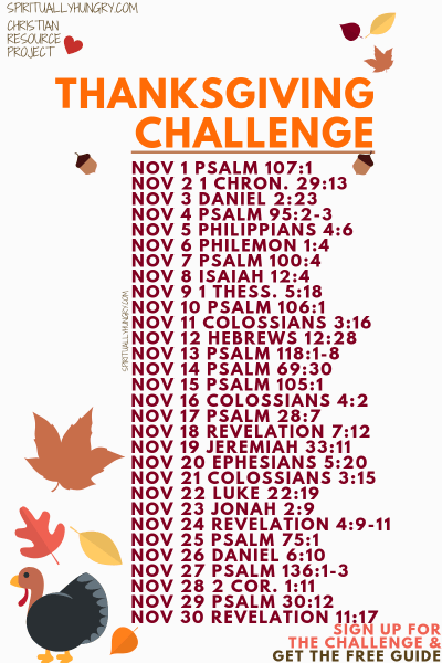 Thanksgiving Challenge