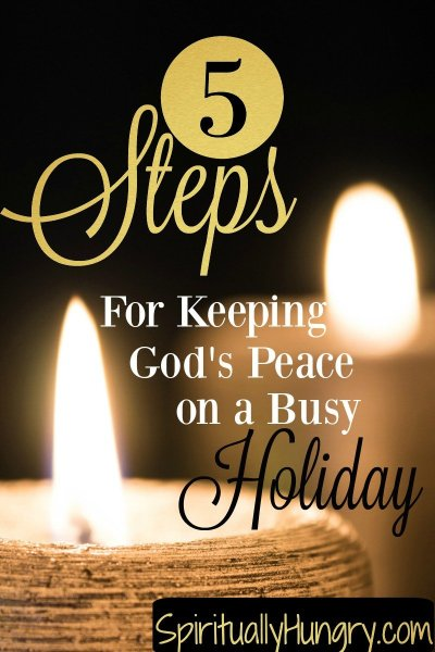Regain your busy holiday by allowing God's peace to rule your heart and actions. Learn how regain your composure throughout the stressful and busy day.