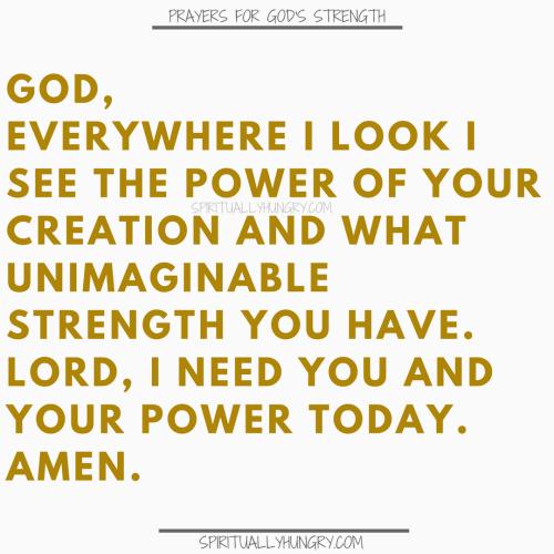 Prayer For The Power Of God | Prayers For The Power Of God