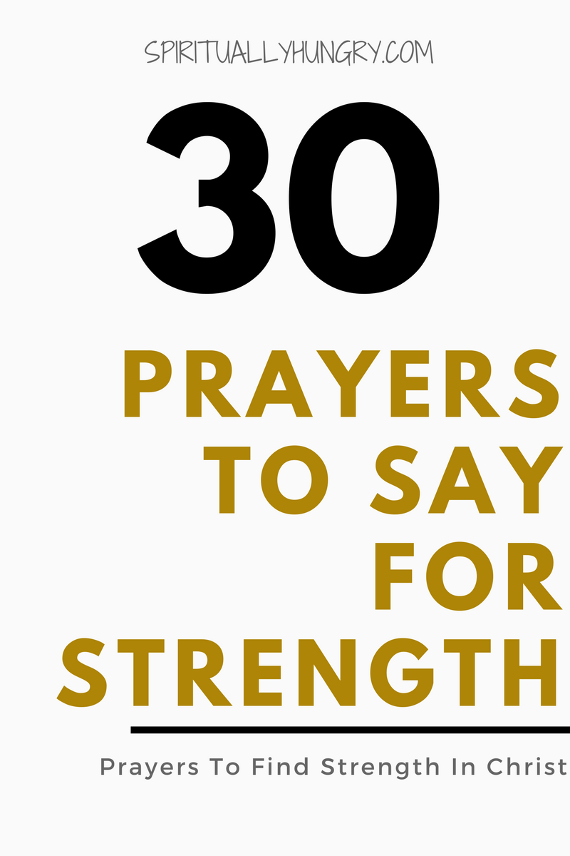 Do you need prayer for strength? God's strength is amazing, overwhelming, and all-powerful. Often we do not know how to access that power, but it is simple, it is through relentless prayer. Coming to God over and over again seeking His love, presence, and power. We provide you with 30 premade prayers for strength right in this post!