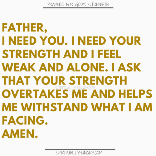 Prayers For Strength In God | Prayer For Strength In God