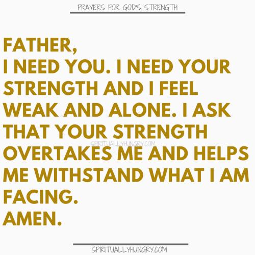 Prayers For Strength In God | Prayer For Strength In God
