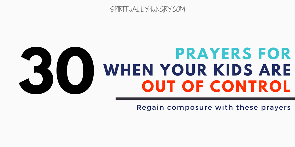 Prayer For Kids Behavior
